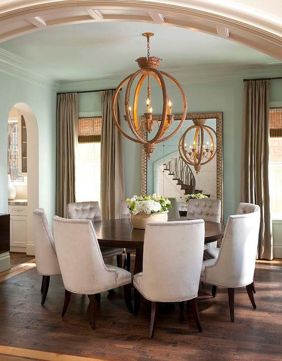 blue and taupe dining room with soothing blue paint color on sherwin williams dining room colors id=17732