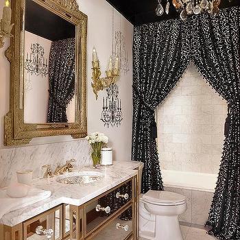 double shower curtains design ideas