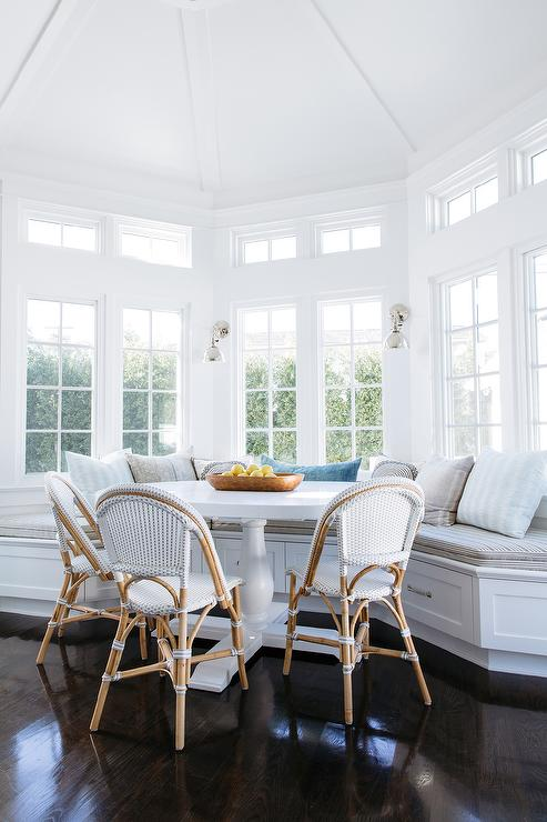 Bay Window With Built In Dining Bench Transitional Dining Room