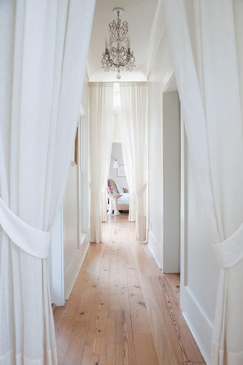 Curtains With Tie Backs In Lieu Of Doors Transitional Bedroom