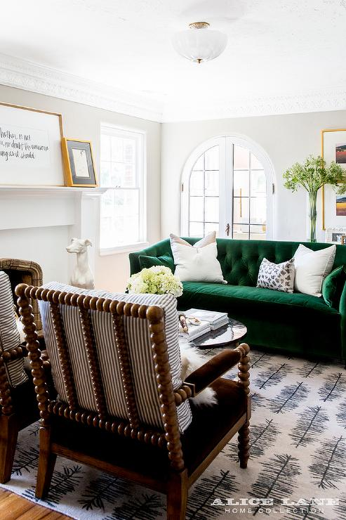 French Family Room With Arched Alcove Bookshelf French