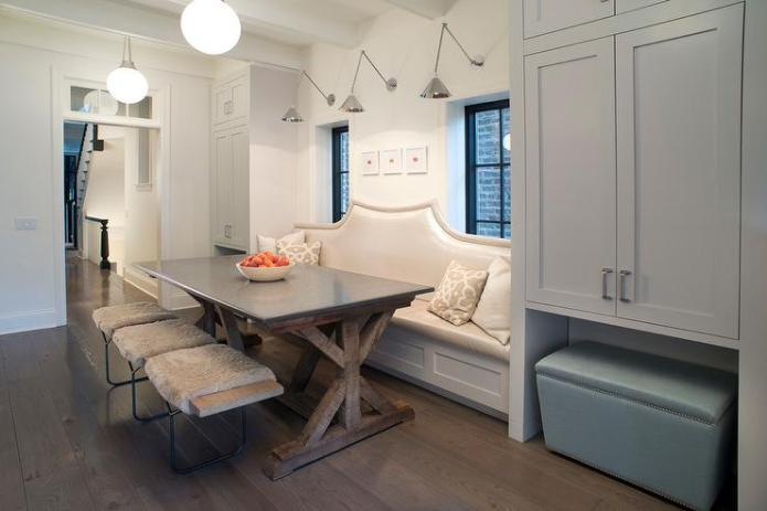 Curved Dining Banquette Design Ideas