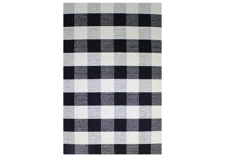 Black And White Morocco Rug
