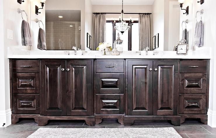 How To Stain Bathroom Cabinets Darker