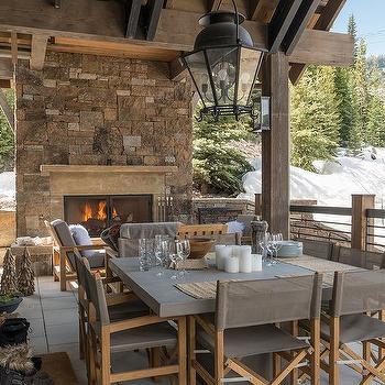 rustic cabin covered patio design ideas