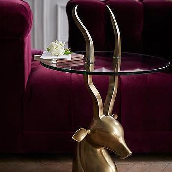 animal sculpture base side table