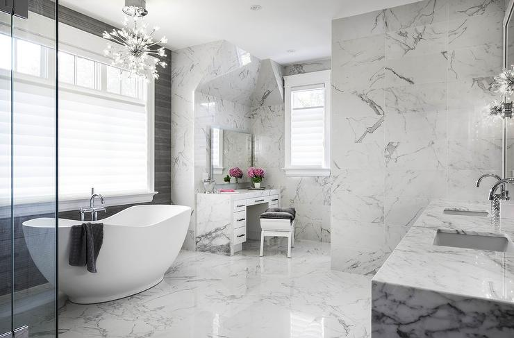 Calcatta Marble Bathroom Tiles Contemporary Bathroom