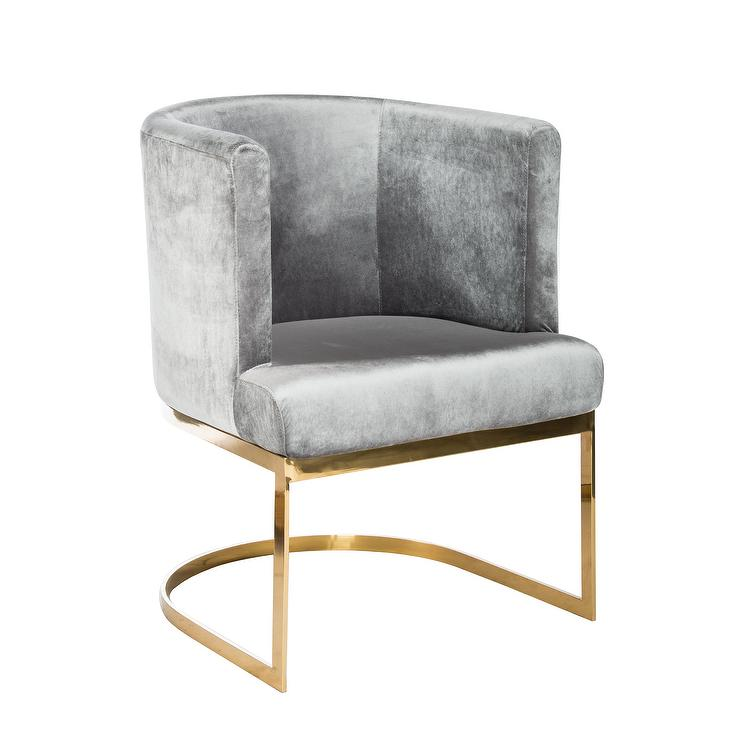 Grey And Brown Accent Chair