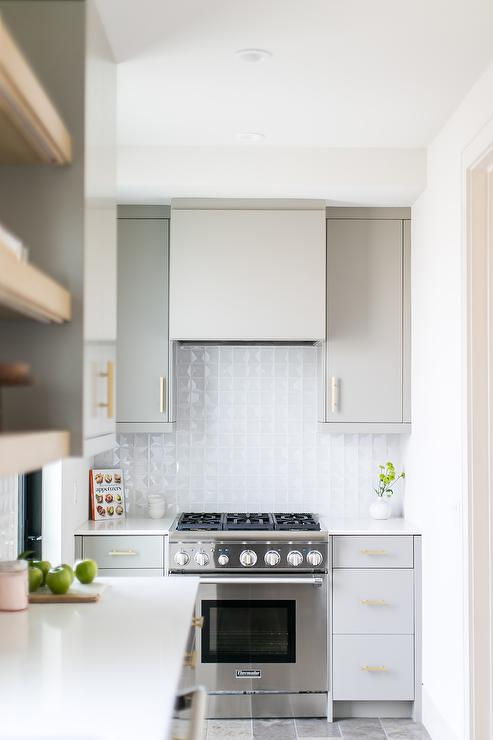 Butler Pantry Stove Contemporary Kitchen