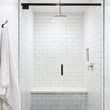 white quartz shower bench seat design ideas