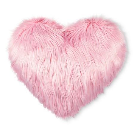valentines heart pink oversized faux