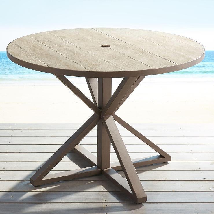 la phillippe reclaimed wood grey round