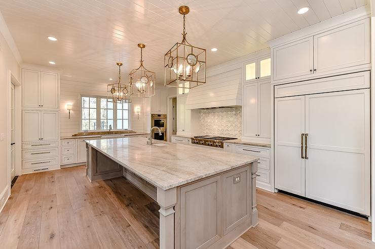 Brown Granite Countertops Transitional Kitchen