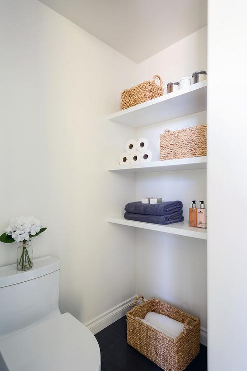 Floating Bathroom Shelves Contemporary Bathroom The