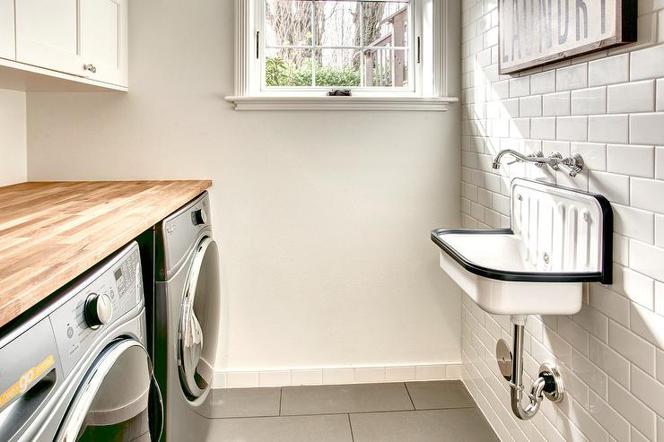 small round laundry room sink design ideas