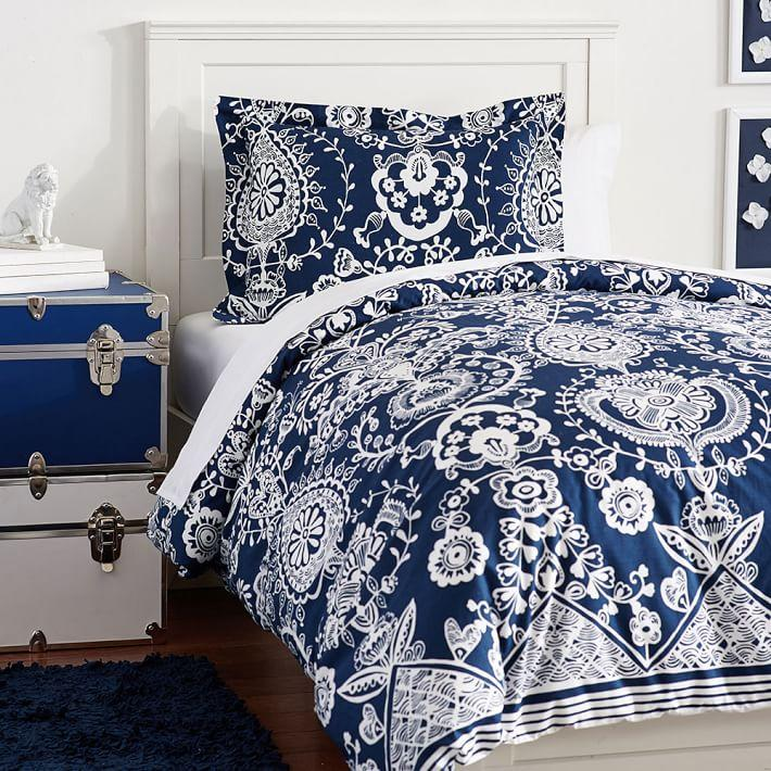 natalia blue white baroque bedding