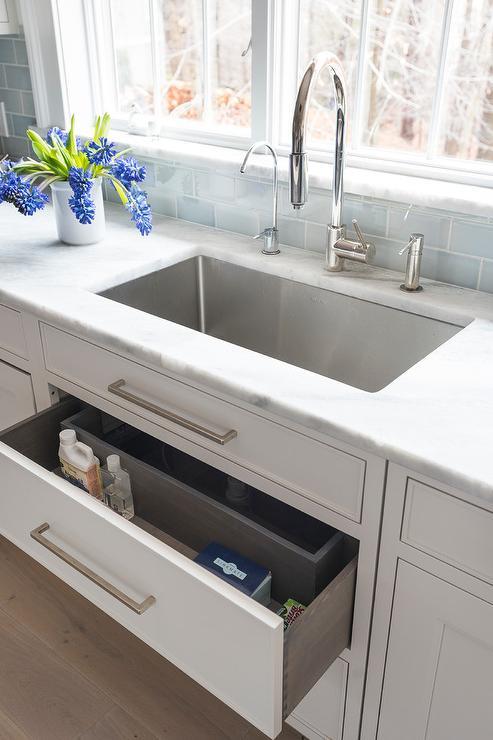 sponge drawer under kitchen sink