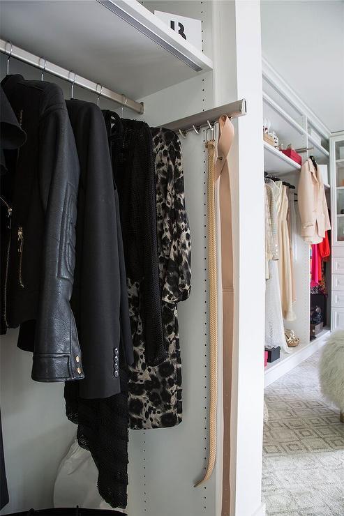 closet belt rack design ideas
