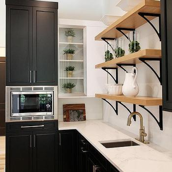 wall mounted pantry microwave design ideas