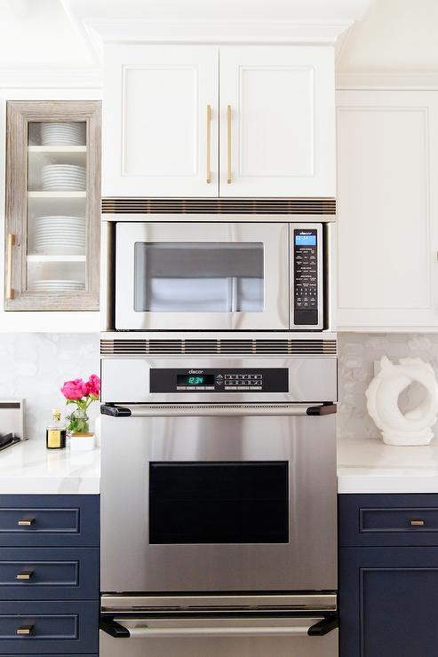 wall oven microwave combo design ideas