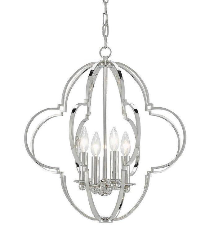 Brushed Nickel Lantern Pendant Light