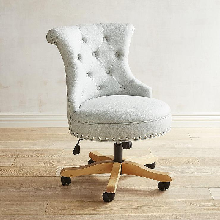 Blue Swivel Accent Chair
