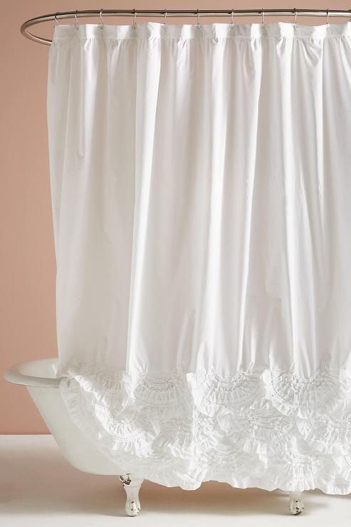rivulets white cotton ruffled shower