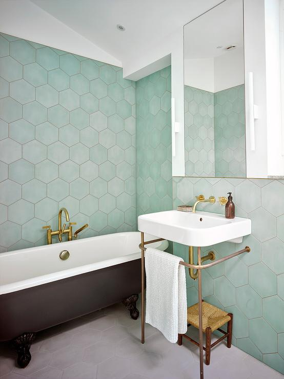 Bathroom Decor Mint Green