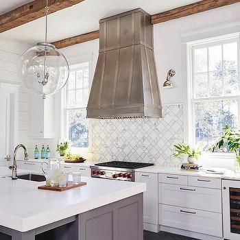 tile backsplash stops at kitchen hood