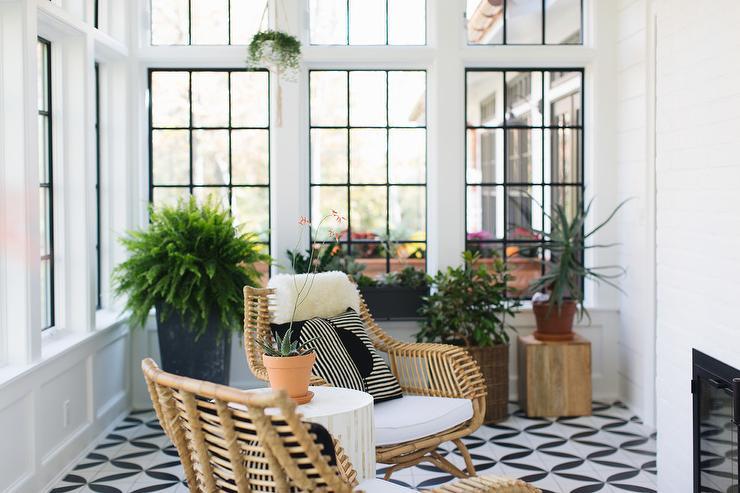 sunroom floor tiles design ideas