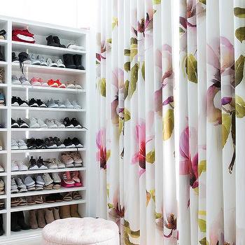pink and green closet curtains design ideas