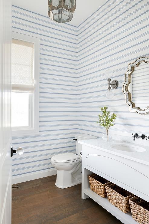 Blue Washstand Cottage Bathroom Sherwin Williams