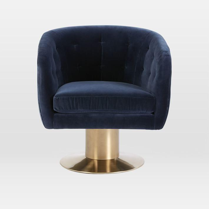 Blue Swivel Chair Living Room