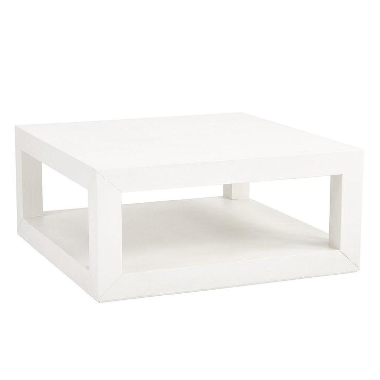 suzanne kasler parsons white coffee table