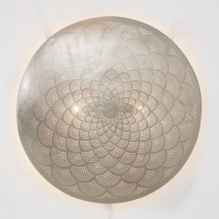 Kasbah Punched Metal Pendant Light