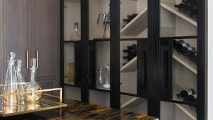 Floor To Ceiling Glass Display Cabinets Contemporary