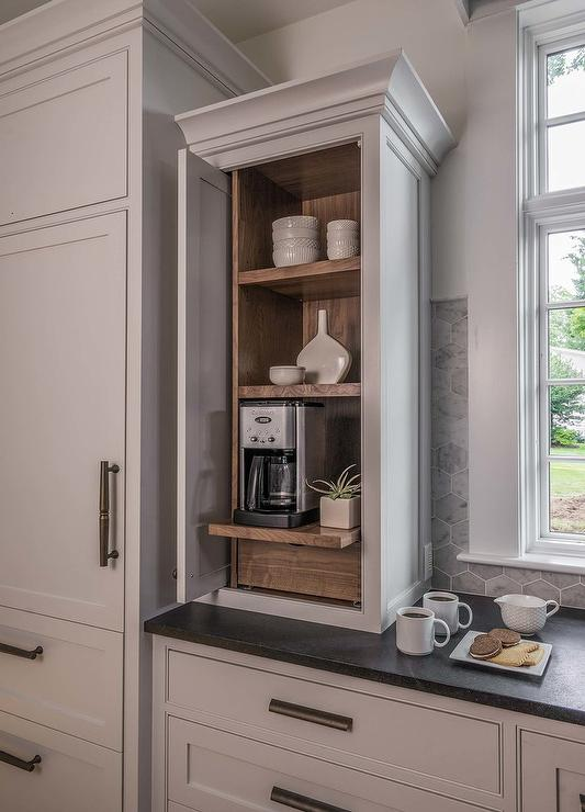 Wood Paneled Refrigerator And Freezer Drawers Cottage Kitchen Benjamin Moore Decorators