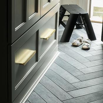 Slate Herringbone Floor Design Ideas