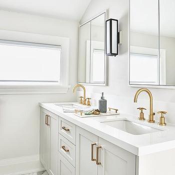 gold gooseneck bathroom faucets design