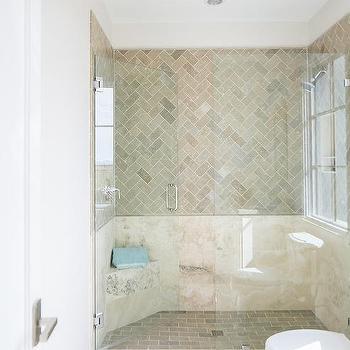 cream shower wall tiles design ideas