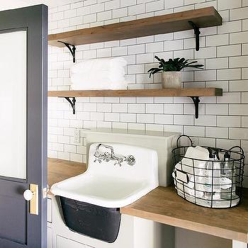 enameled cast iron laundry room sink