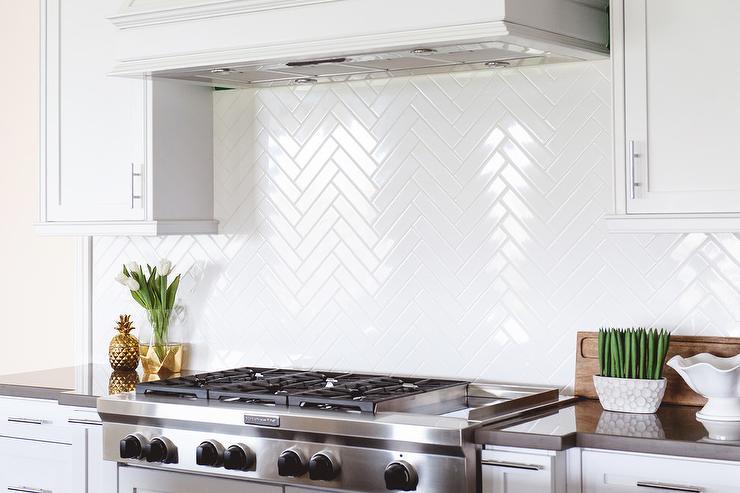 herringbone pattern cooktop tiles