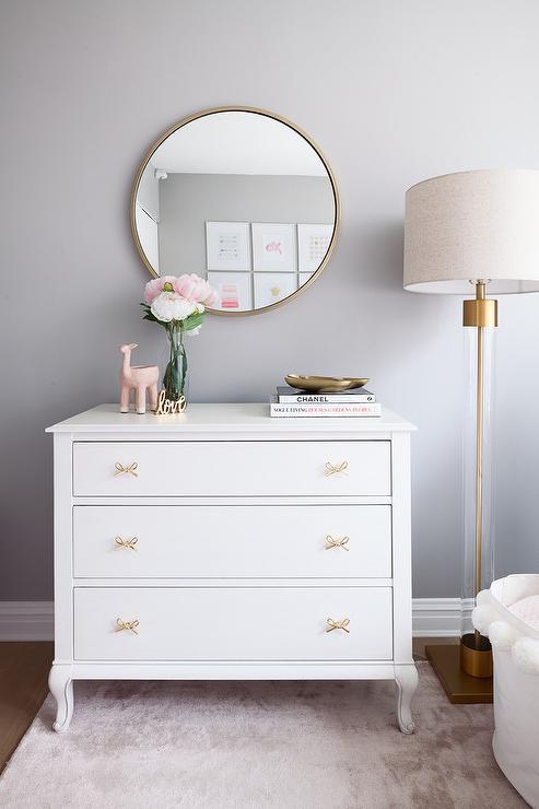 hayworth white gold four drawer dresser