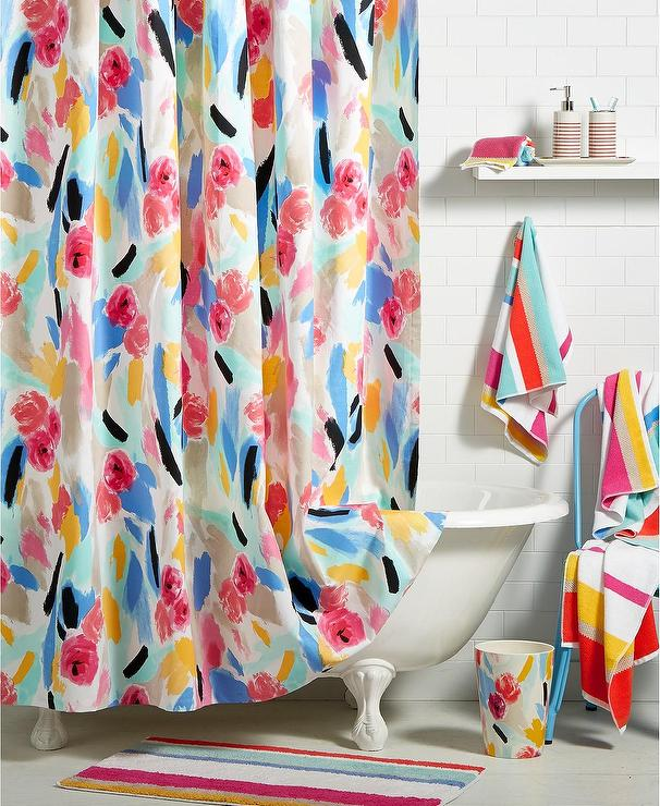 kate spade colored paintball floral