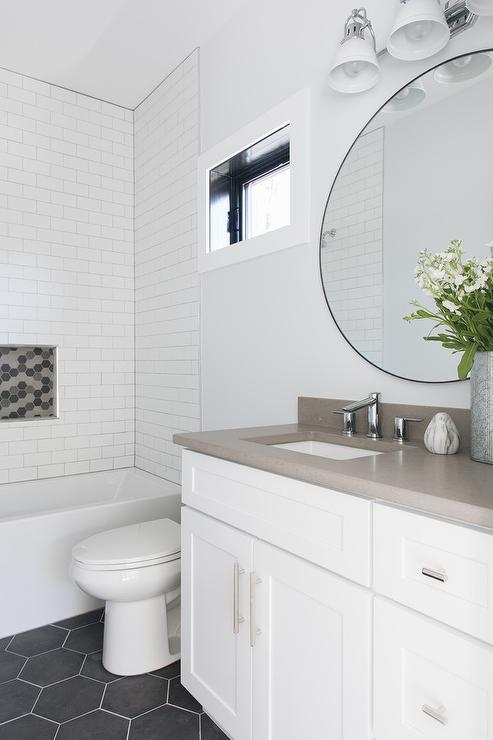 black slate hex tile design ideas