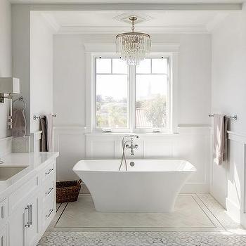 wainscoting around bathtub design ideas