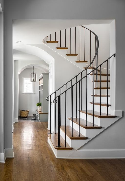 Wrought Iron Staircase Spindles Design Ideas | Wrought Iron Staircase Spindles | Basement Stair | Rot Iron | Outdoor | Wooden French Country Newel Post | Foyer