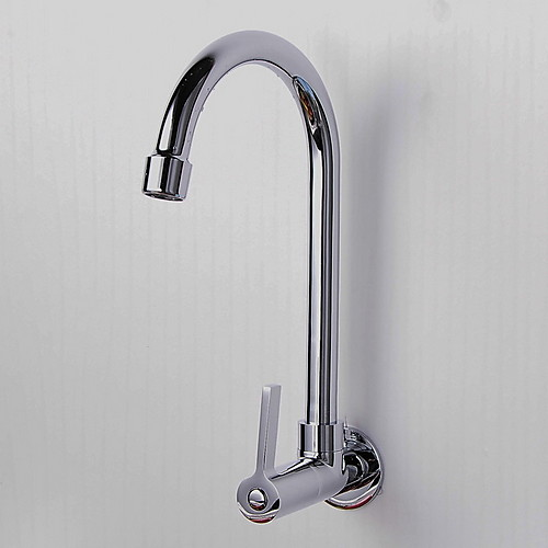single hole wall mount kitchen faucet