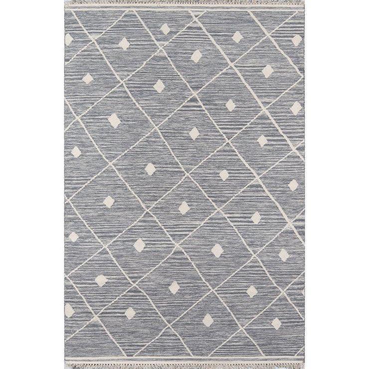 appleton gray diamond pattern woven