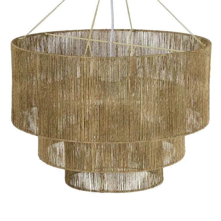 Rattan Drum Pendant Lighting